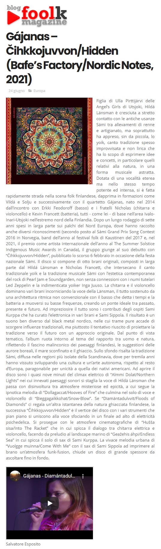 Blogfoolk (Italy), 24.6.2021