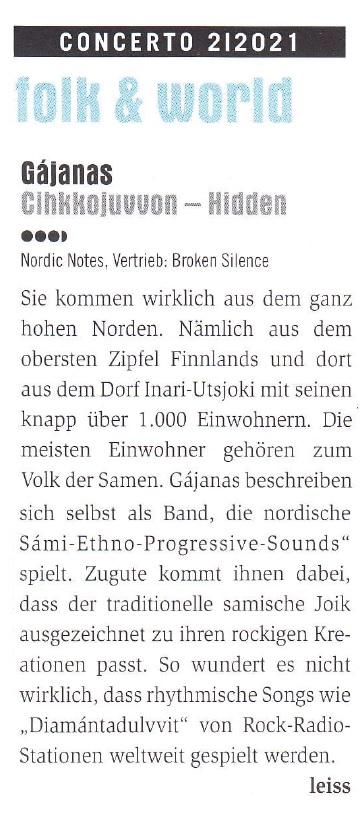 Concerto Magazin (Austria)  5/2021