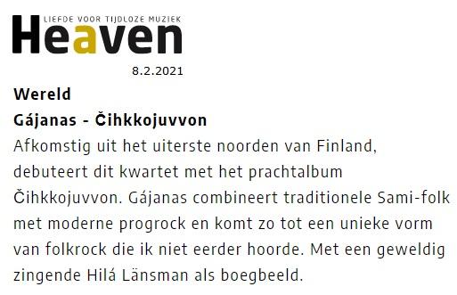 Heaven Magazine (The Netherlands), 8.2.2021