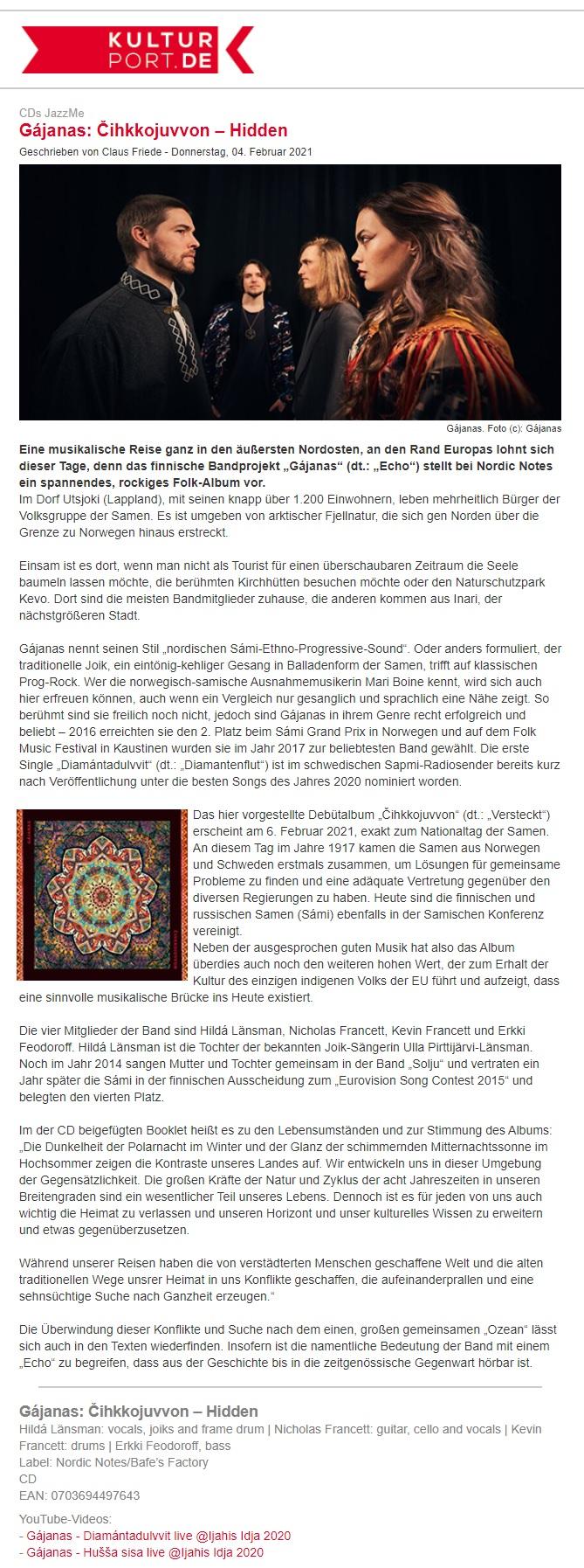 KulturPort.De (Germany), 4.2.2021