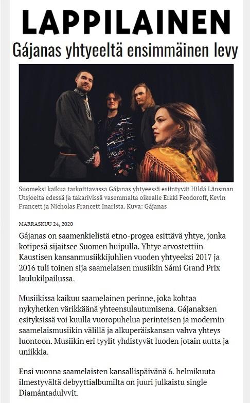Lappilainen (Finland), 24.11.2020