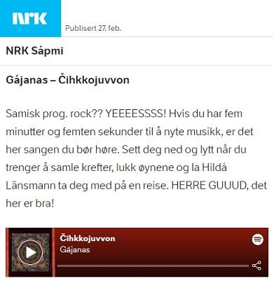 NRK Urbi (Norway), 27.2.2021