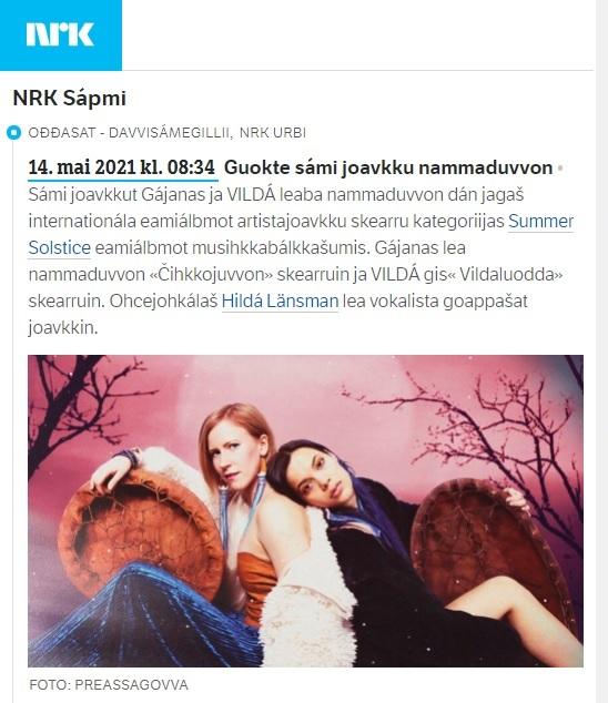 NRK Sápmi (Norway), 14.5.2021
