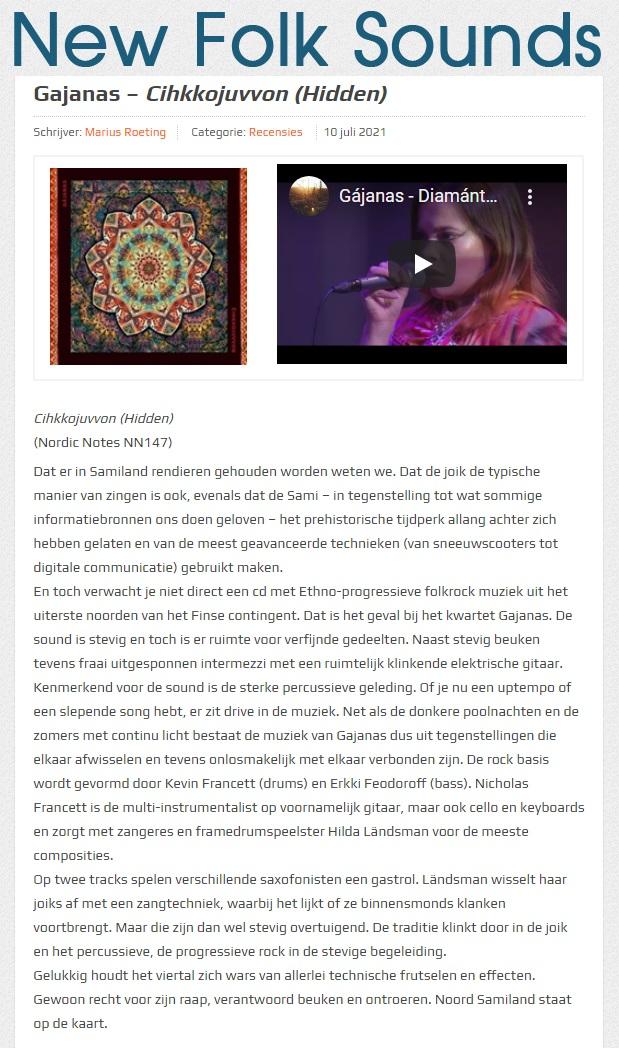 New Folk Sounds (the Netherlands), 10.7.2021