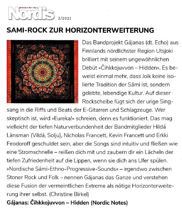 Nordis-Magazin (Germany), 2/2021