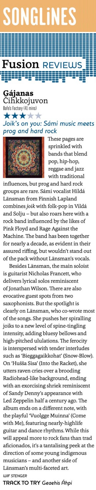 Songlines (UK), May 2021