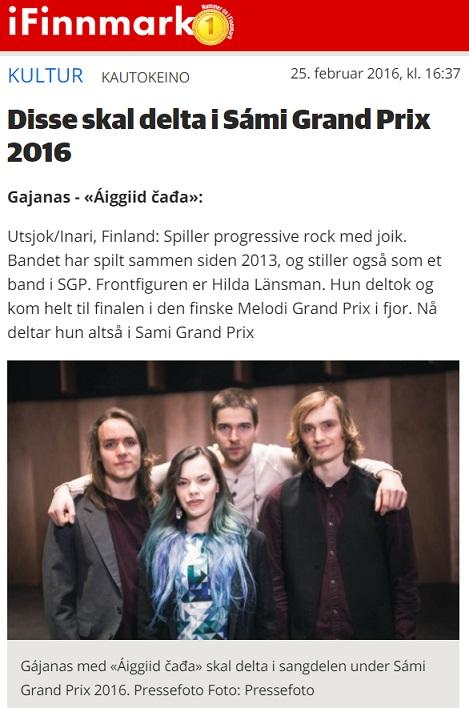 iFinnmark (Norway), 25.2.2016