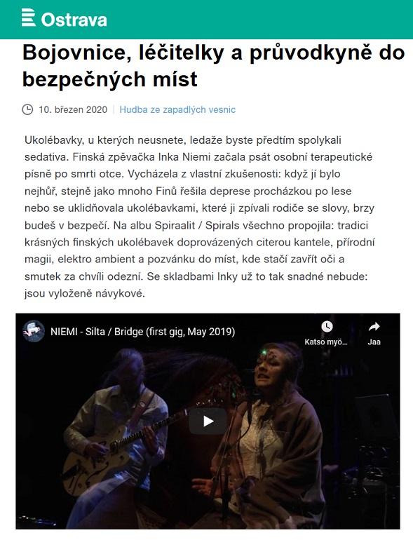 Czezh Radio Ostrava (Czech Republic), 10.3.2020