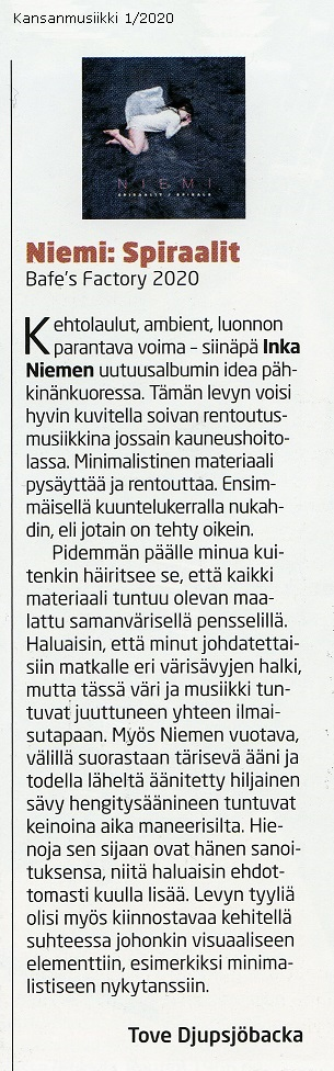 Kansanmusiikki (Finland), 1/2020