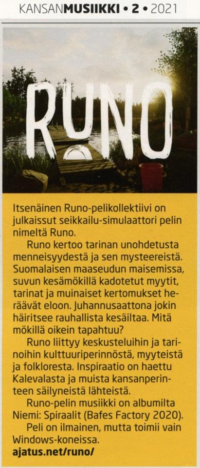 Kansanmusiikki (Finland), 2/2021
