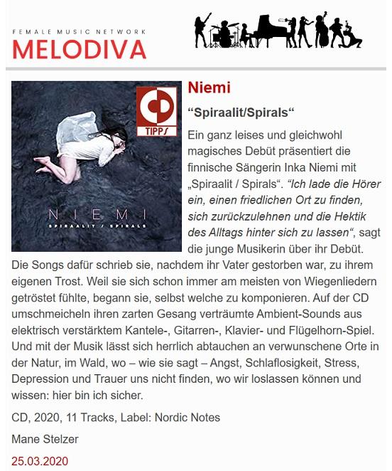 Melodiva (Germany), 25.3.2020