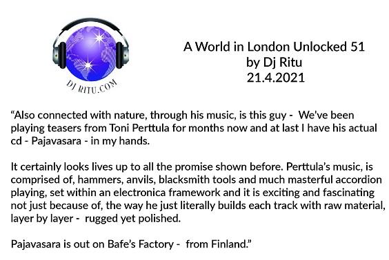 A World in London Unlocked 51 (UK), 21.4.2021