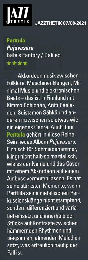 Jazzthetik (Germany), 07-08/2021