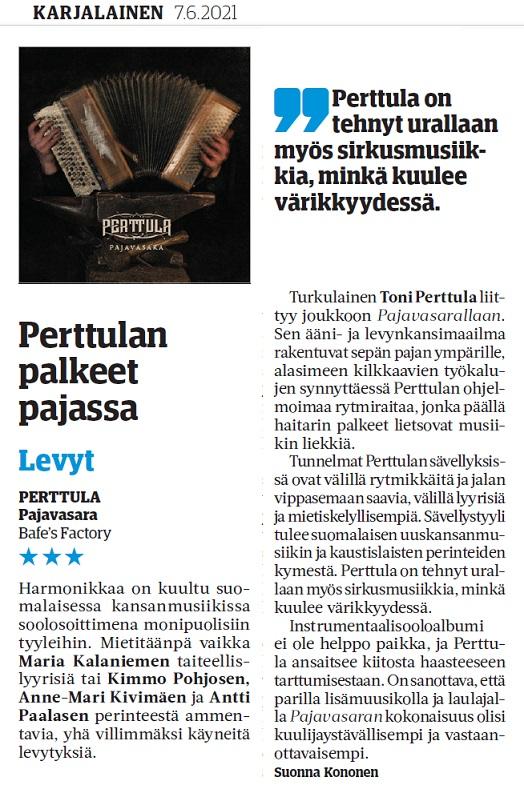 Karjalainen (Finland), 7.6.2021