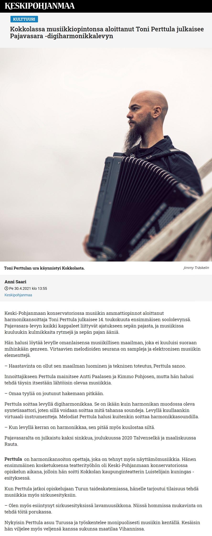 Keskipohjanmaa (Finland), 30.4.2021