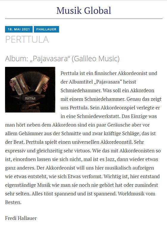 Musik Global (Switzerland), 19.5.2021