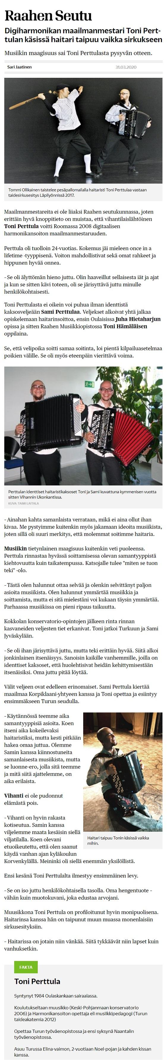 Raahen Seutu (Finland), 30.3.2020