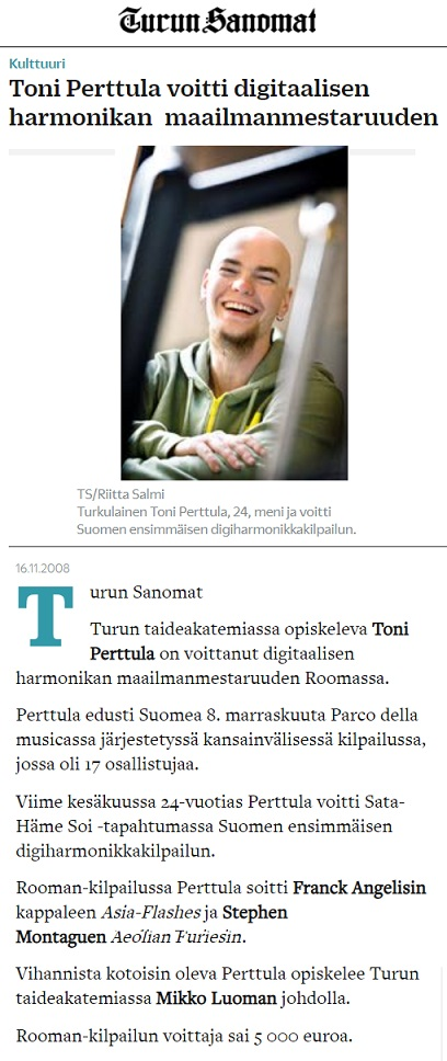 Turun Sanomat (Finland), 16.11.2008