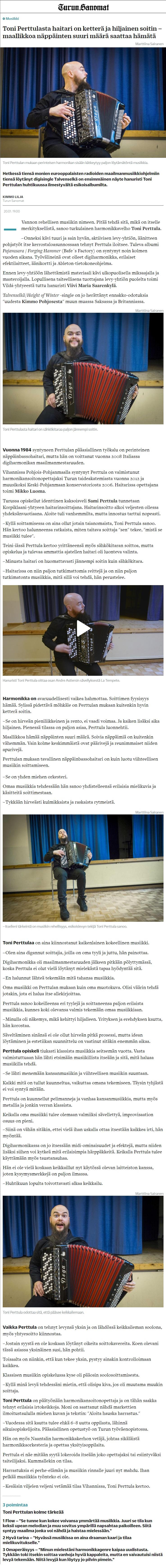 Turun Sanomat (Finland), 20.1.2021