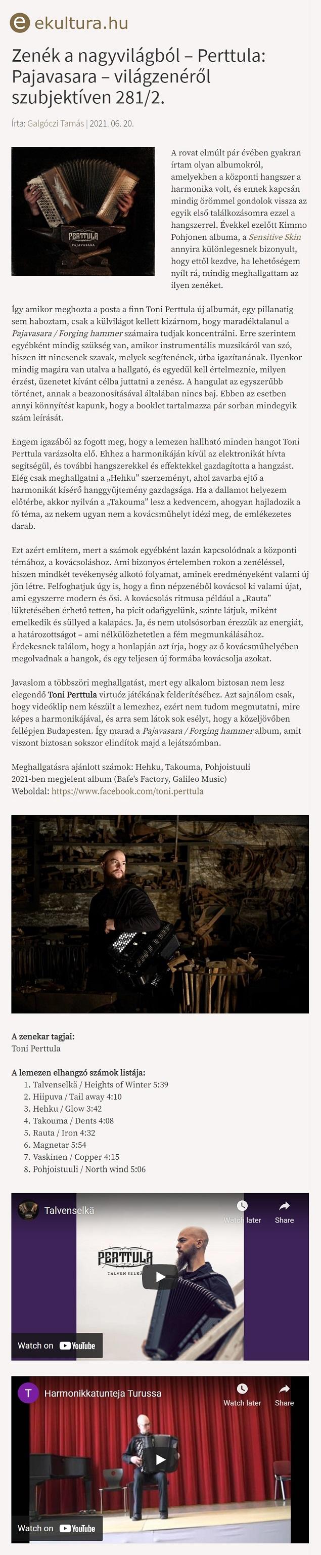 eKultura.hu (Hungary), 20.6.2021