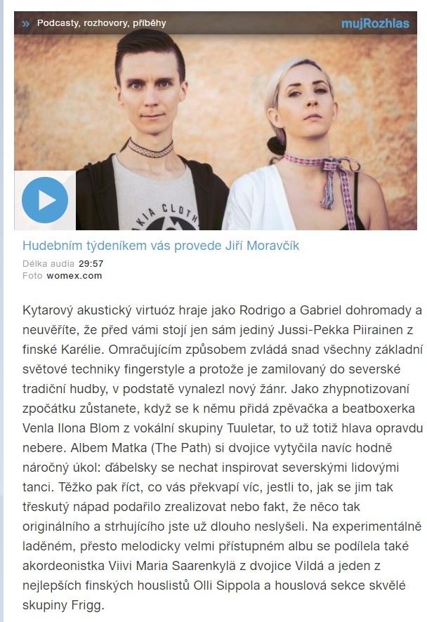 Český rozhlas, Syrský Zorba z ostrova Lesbos (Czech Republic), 28.7.2020