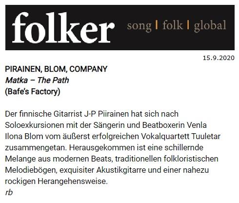 Folker (Germany), 15.9.2020