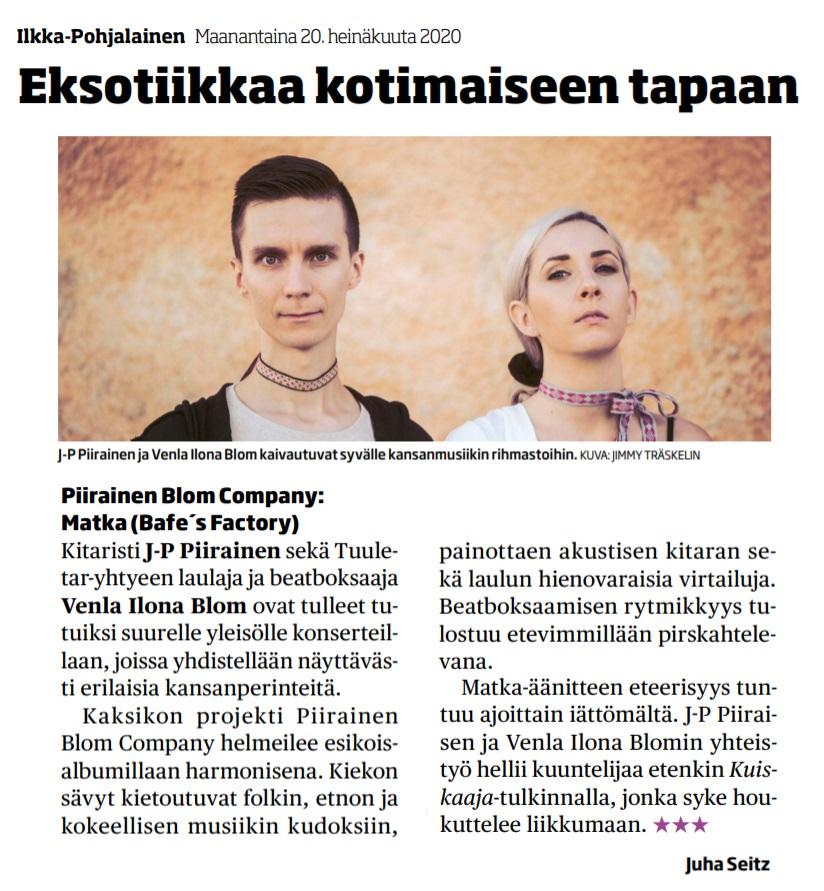 Ilkka-Pohjalainen (Finland), 20.7.2020