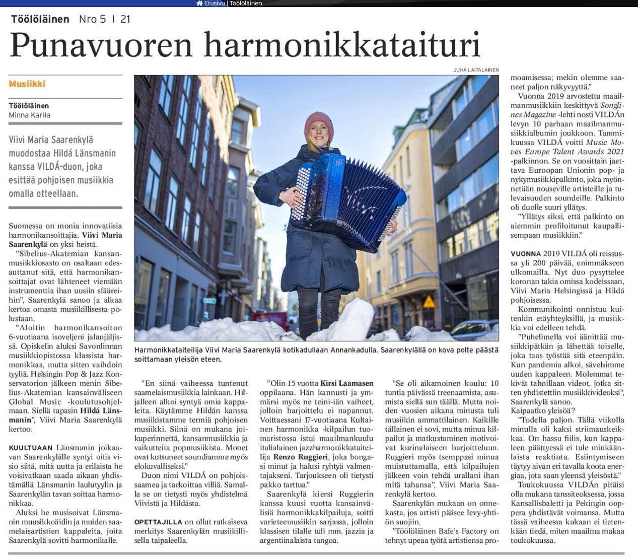 Töölöläinen (Finland), N:o 5, 7.3.2021
