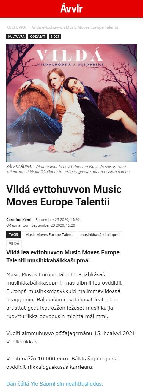 Avvir (Norway), 23.9.2020