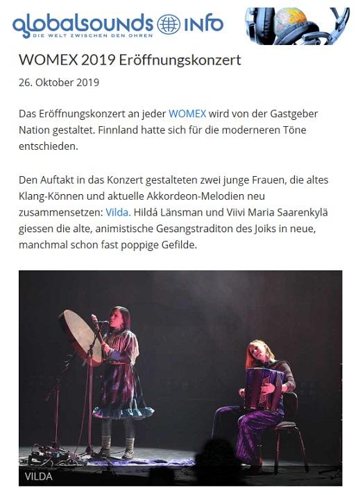 Globalsounds (Switzerland), 26.10.2019