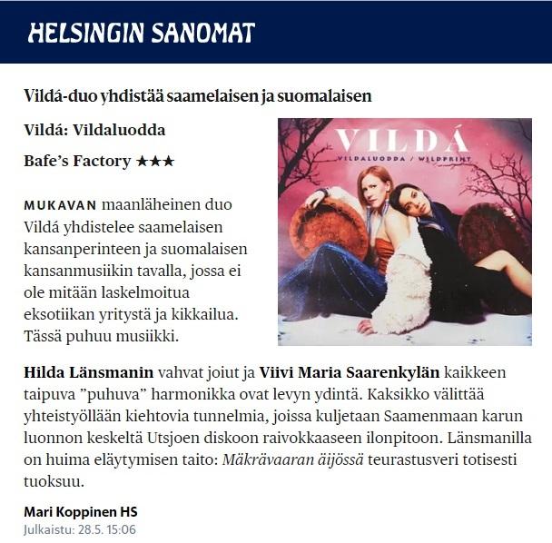 Helsingin Sanomat (Finland), 28.5.2019