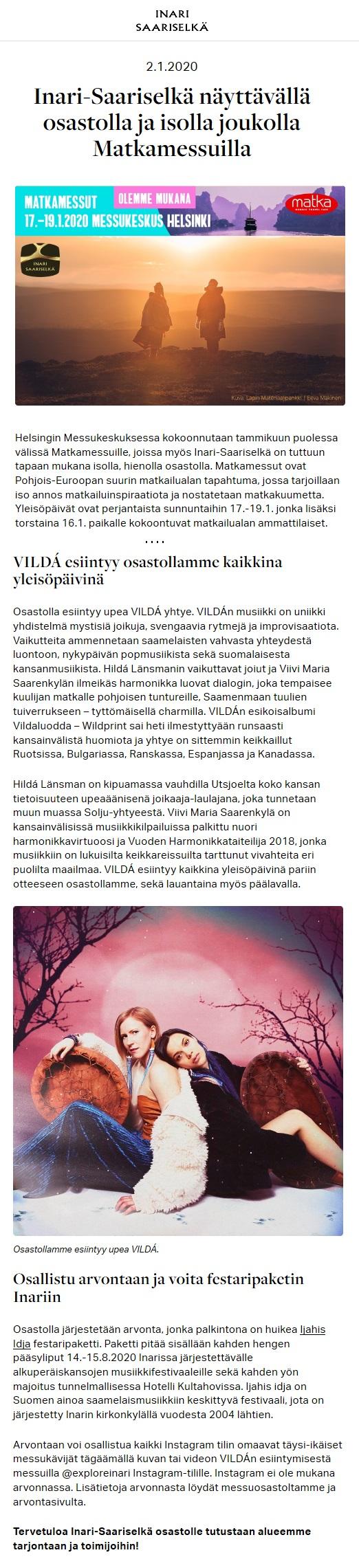 Inari-Saariselkä (Finland), 2.1.2020