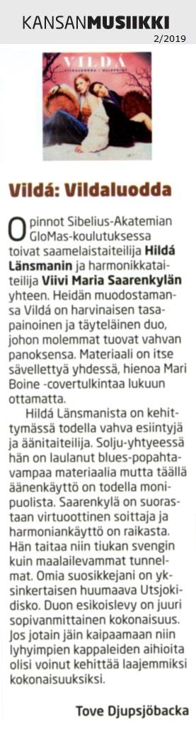 Kansanmusiikki (Finland), 2/2019