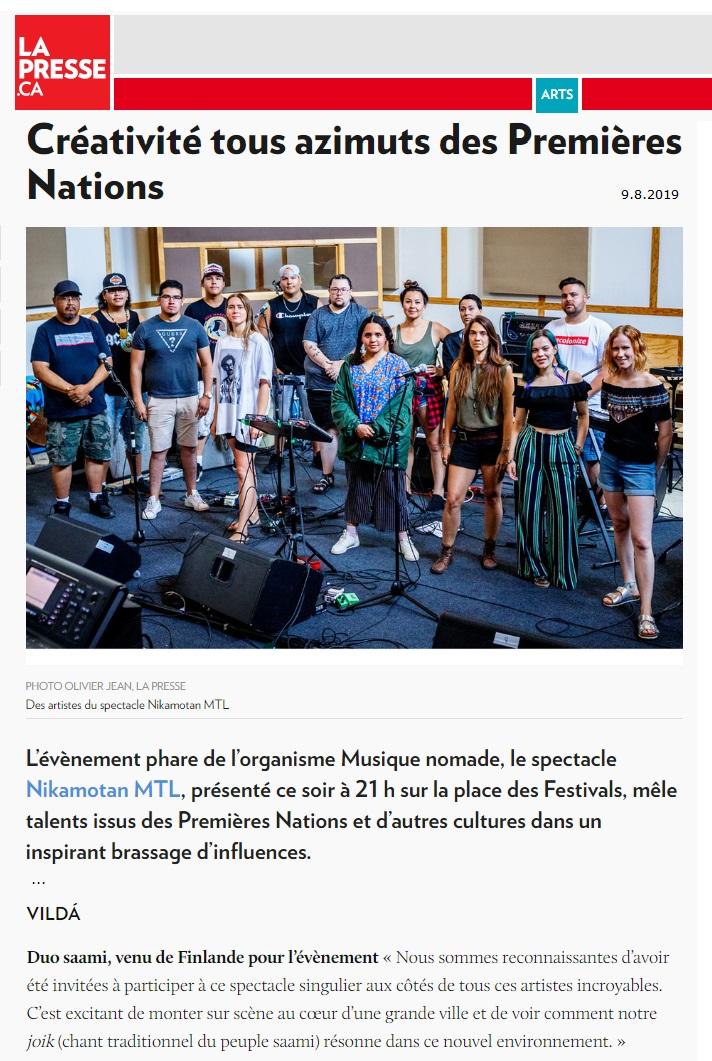 La Presse (Canada), 9.8.2019