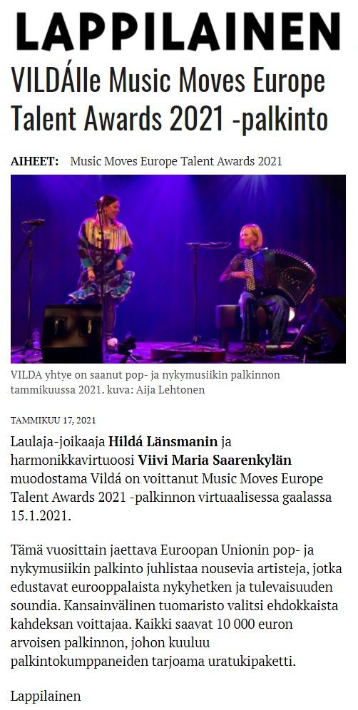 Lappilainen (Finland), 17.1.2021