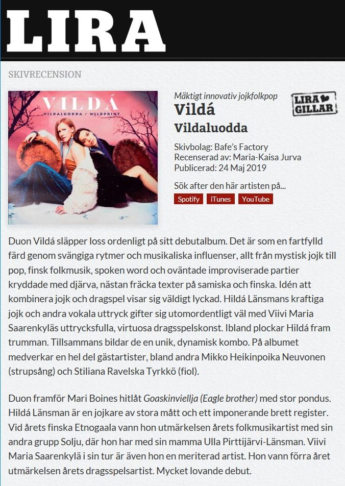 Lira (Sweden), 24.5.2019