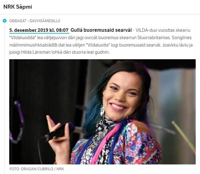 NRK Sápmi, (Norway), 5.12.2019