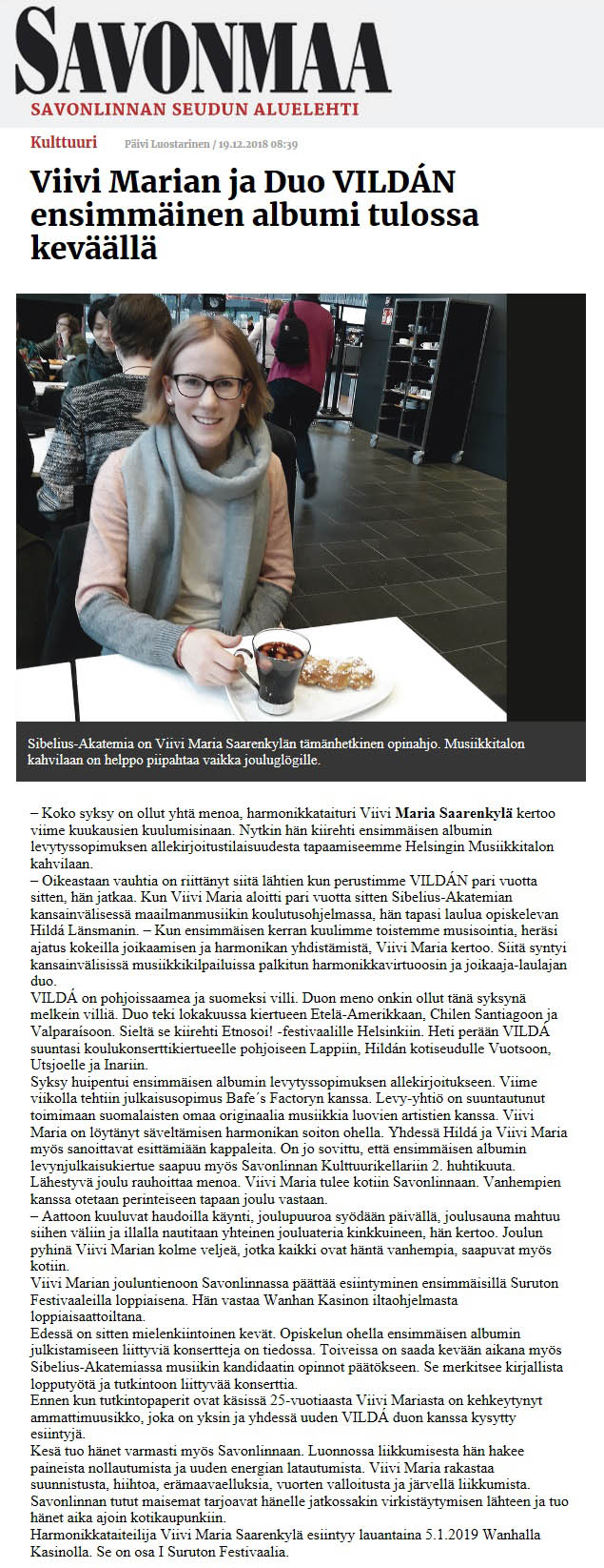 Savonmaa (Finland), 19.12.2018